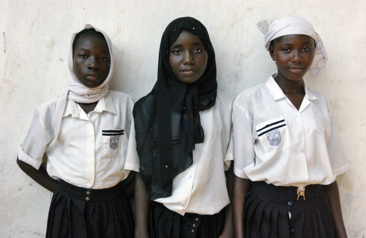 School girls in Sierra Leone