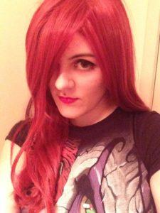 Nina red wig