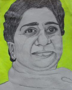 SGrewal-Women-of-Steel-Mayawati-sketch