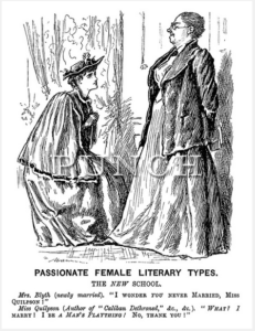 Fig. 1 George-Du-Maurier, 'Passionate Female Literary Types', Punch, 2 June 1894.
